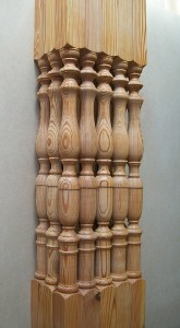 spindles, reclaimed, pitch-pine