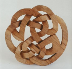 hand carved, celtic design, knotwork, maple, Scottish
